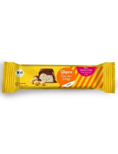 Veganz čokoládová tyčinka s chrumkami BIO 40 g