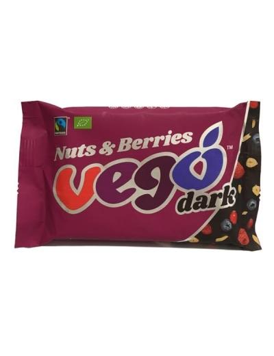 Čokoláda Vego tmavé orechy - lesné plody 85g