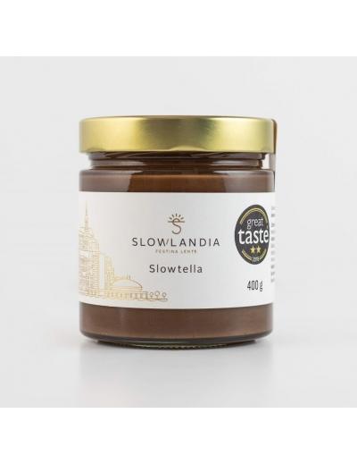 Slowlandia Slowtella – Lieskovcovo-kakaový krém 400g