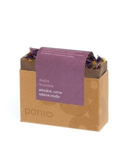 Ponio - Dvojitá levanduľa - prírodné mydlo 100g