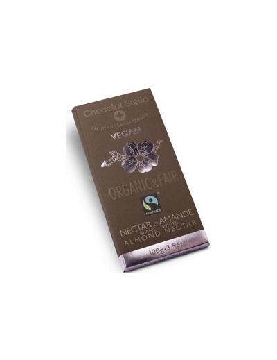Čokoláda biela s mandľami vegan BIO 100g