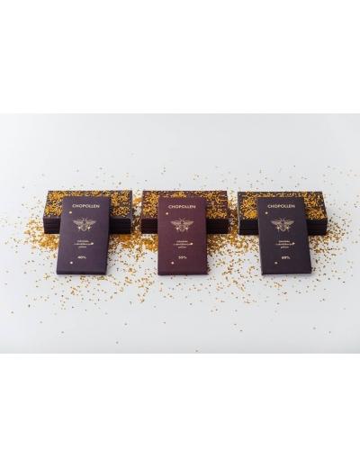 Chopollen 40%-ná Mliečna čokoláda s obnôžkovým peľom