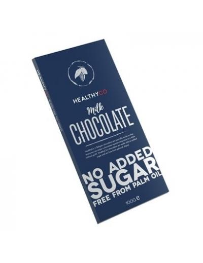 HealthyCo – Belgická čokoláda bez cukru - Mliecna 100g