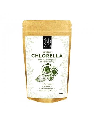 NATU - Chlorella BIO prášek, 180g