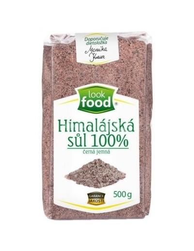 Look Food Himalájska soľ čierna jemná 100% 500g