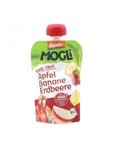 Moothie jablko banán jahoda bez cukru BIO 100g