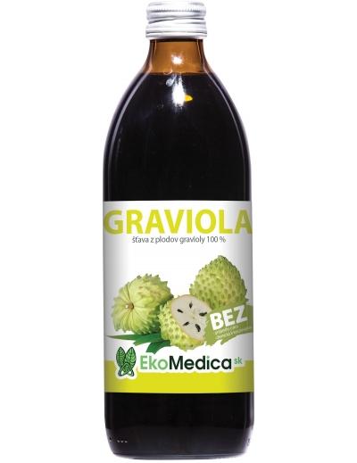 Šťava z Gravioly 100% 500ml