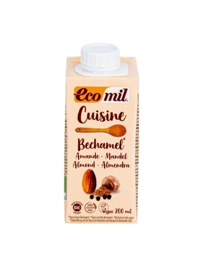 Mandľová alternatíva smotany s muškátovým orieškom 9 % tuku 200 ml BIO ECOMIL