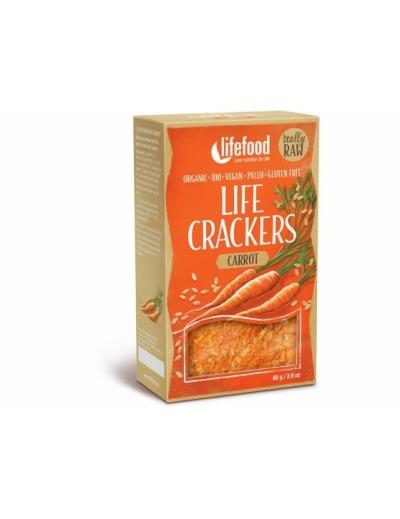 Life Crackers Mrkvanky bezgluténové BIO RAW 85g