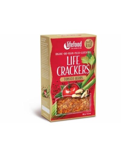 LIFE CRACKERS Paradajkové BIO RAW 90 g Lifefood