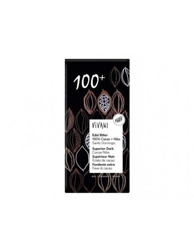 Vivani - Bio tmavá čokoláda 100% 80g