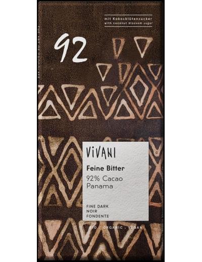 Vivani - Prvotriedna 92% horká čokoláda BIO 80g