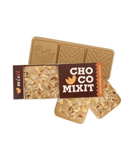 Mini Čokoláda: Slaný karamel a lieskový oriešok 50g
