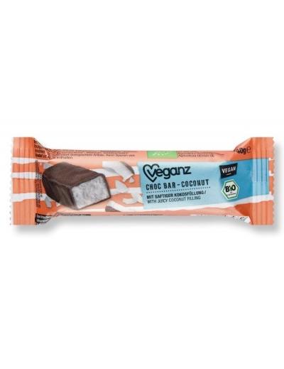 Čokoládová tyčinka s kokosom, Bio 40 g