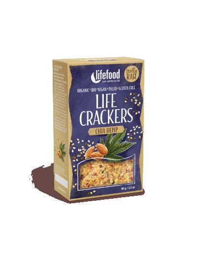 Lifefood Life Crackers konope s chia Bio 100g