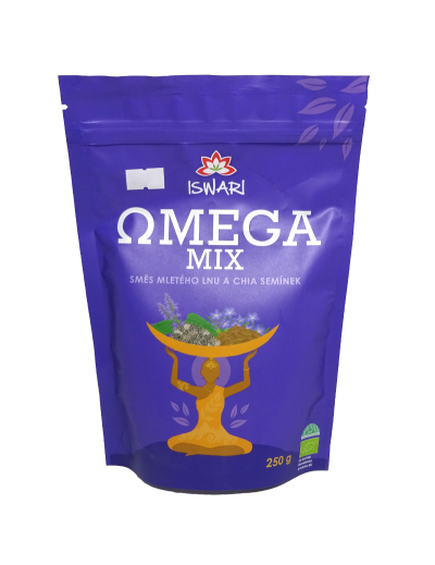 Omega Mix 90% ľan, 10% chia BIO RAW 250g