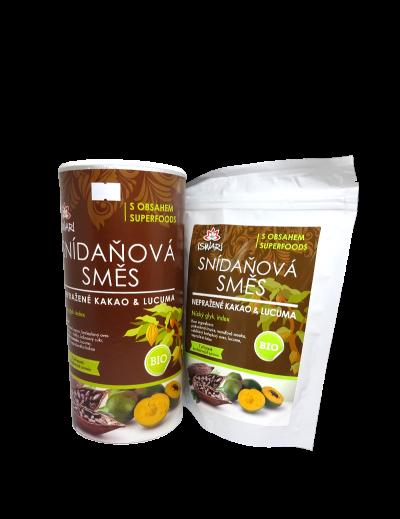 Raňajková zmes nepražené kakao lucuma BIO RAW
