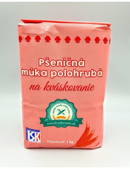 Múka pšeničná polohrubá na kváskovanie 1kg